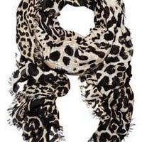 Yves Saint Laurent | Leopard-print wool and cashmere-blend scarf | NET-A-PORTER.COM