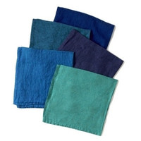 Blue Washed Linen Napkins by Deborah Rhodes