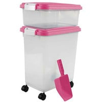 """Walmart: IRIS Combo Food Storage Container with Scoop, 10.8"""" W x 16.5"""" D x 18.6"""" H, Mulitple Colors Available"""