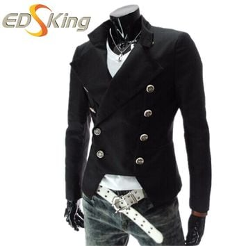 Mens Blazer Double Breasted Men Designs Blazers Slim Fit Chinese Collar Suit Jacket Floral Male Sequin Stage Wear Sportswear