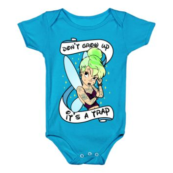 Punk Tinkerbell (Don't Grow Up It's A Trap) Infant Onesuit