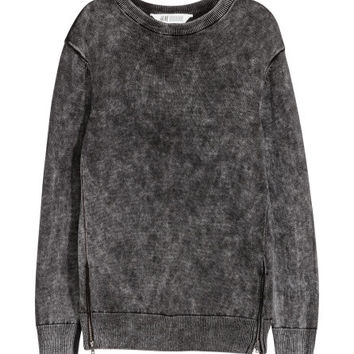 Cotton Sweater with Zips - from H&M