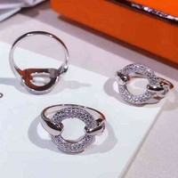 Hermes Woman Fashion Diamonds Ring Jewelry