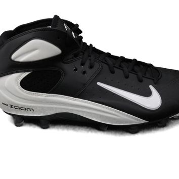 Nike Air Zoom Blade Pro TD Men's Molded Football / Lacrosse Cleats (Black/White)