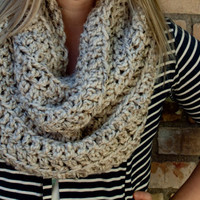 Warm and Chunky Large Infinity Scarf