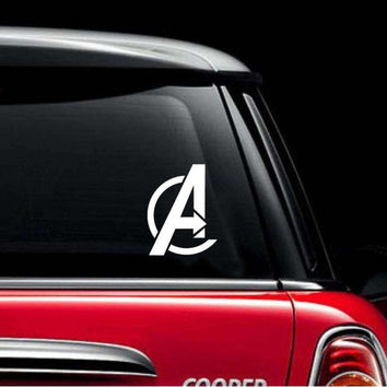 Vinyl Car Decal - White Avengers Logo - Car Sticker - Marvel Avengers - The Avengers - Vehicle Sticker