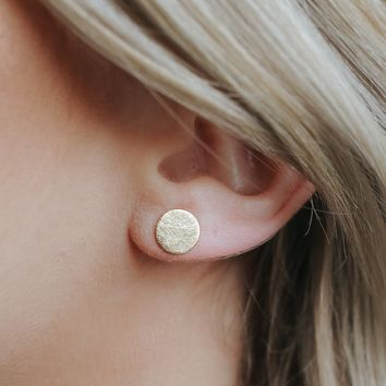 Circle Around Earrings - Gold