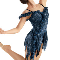 Weissman™ | Sequin Lace Ruffle Cascade Dress