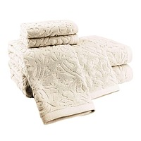 Fonte Long Staple Combed Turkish Cotton Piece Dye Jacquard Towel Collection