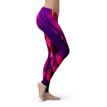Liquid Abstract Paint V17 - All Over Print Womens Leggings / Yoga or Workout Pants