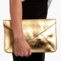 Metallic Envelope Clutch $40