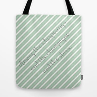 Gatsby Quote - Among the whisperings and the champagne and the stars...  Tote Bag by Senorita