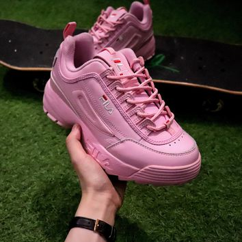 Best Online Sale FILA Disruptor II 2 Sport Running Shoes Pink FW 3ccdc6889