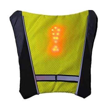Reflective Safety Vest Outdoor Waterproof 48 LED Turn Signal Vest Outdoor Running / Night Walking / Cycling Warning Vest Coat