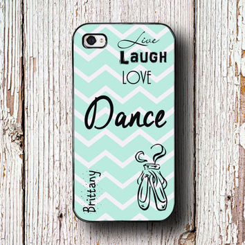 Dance Iphone 6 case - Girls Iphone 5s case - Ballet iPhone 5c case - Chevron Samsung S4 case Galaxy S5 case - Live Laugh Love Dance (1327)