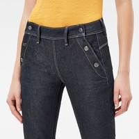 Lynn Navy Mid Waist Skinny Jeans | Raw Denim | G-Star RAW®