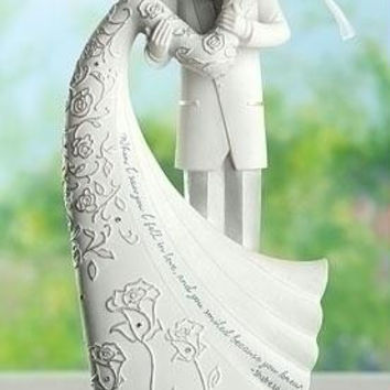 "2 Cake Toppers -  "" When I Saw You I Fell In Love, And You Smiled Because You Knew. ""  - Shakespeare"