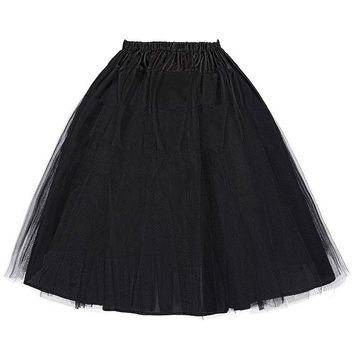 Belle Poque Fluffy Skirts Rockabilly Petticoat Retro Vintage Women Dance Pettiskirt Slips Underskirt Crinoline Tutu Tulle Skirt
