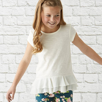 Matilda Jane Clothing White Clean Sweep Top - Girls | zulily