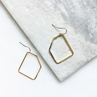 Geo Open Shape Dangle Earrings