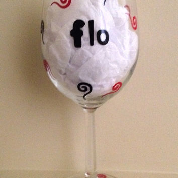 Custom Wine Glass / Personalized Wine Glass / Girlfriend Wine Glass / Liquid Therapy