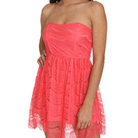 Scallop Lace Tube Dress | Shop Dresses at Wet Seal