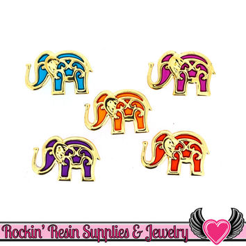 Jesse James Buttons 5 pc BOLLYWOOD Elephant Buttons
