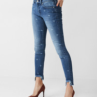 Mid Rise Stretch+ Performance Distressed Ankle Jean Leggings