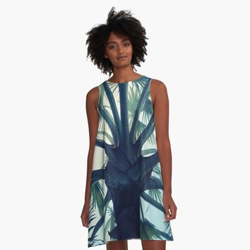 """Tropical Tranquillity"" A-Line Dress by angelocerantola 