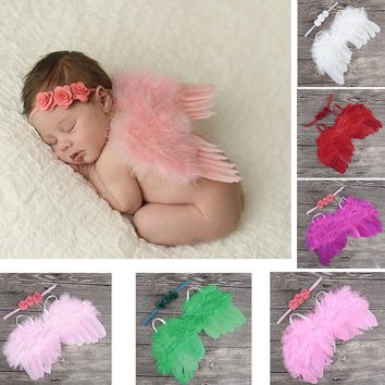Newborn Baby Girls Angle Wing Photography Props