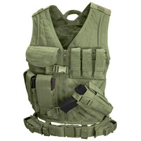Cross Draw Tactical Vest - Color: OD Green