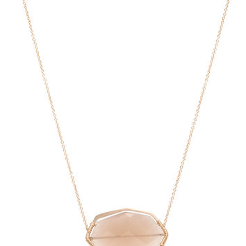 Dana Kellin Fine Jewelry Beige Moonstone Stationary Pendant Necklace