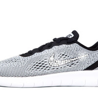 Girls' Nike Free RN - Crystallized Swarovski Swoosh - Big Kids' (3.5y-7y) - Grey