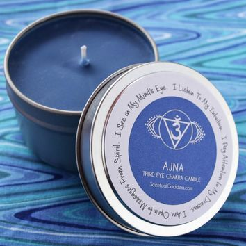 Ajna Third Eye Chakra Candle - Tap Into Your Intuition, Receive Guidance & See in Your Mind's Eye