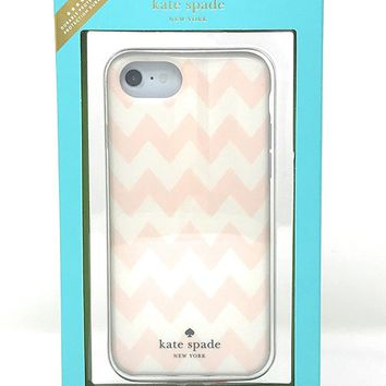 Kate Spade New York Chevron Blush Pink Comold Case for iPhone 8 / iPhone 7 / iPhone 6
