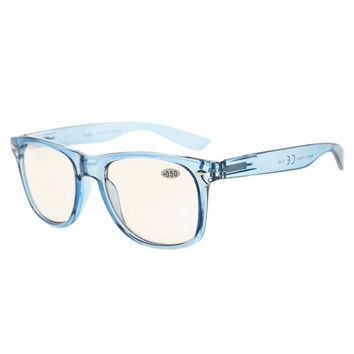 CG133 Eyekepper Blue Light Blocking Eyeglasses Digital Eye Strain Prevention Large Simple Computer Reading Glasses +0.00~+4.00