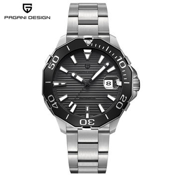 PAGANI DESIGN Top Brand Self-Wind Sport Men Mechanical Wristwatch Stainless Steel Band Water Resistant Luxury Male Watches Gfit