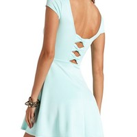 TRIPLE BOW-BACK SKATER DRESS