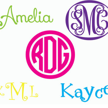 "3"" Wide Vinyl Monogram Decal. Perfect for Camelbaks"