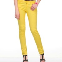 Riley Colored Pants - Yellow Online Shopping | 37548