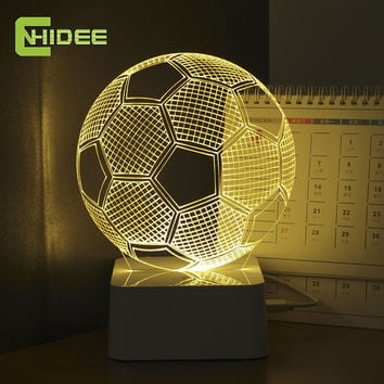 3D Illusion Soccer Night Light Led To