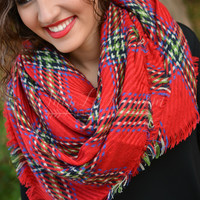 Autumn Retreat Scarf - Red
