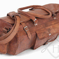 Renaissance Leather large  Travel Bag / Weekend Bag / Overnight Bag / Leather holdall/ large duffle bag