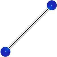 Blue Glow in the Dark Industrial Barbell 31mm | Body Candy Body Jewelry