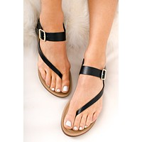 Heading To The Beach Sandals (Black)