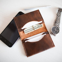 Thin Leather Bifold Wallet