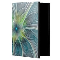 Flourish Fantasy Modern Blue Green Fractal Flower Powis iPad Air 2 Case