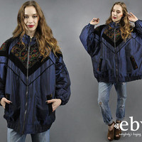 Poofy Jacket Poofy Coat Plus Size Coat Plus Size Jacket Ski Jacket 1990s Coat 90s Coat 1990s Jacket 1990s Coat Iridescent Blue Coat 3X