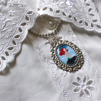 Princess Ariel cameo necklace - The Little Mermaid