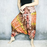 Harem Pants Women Hippie Bohemian Festival Clothing Boho Yoga Tie Dye HR806